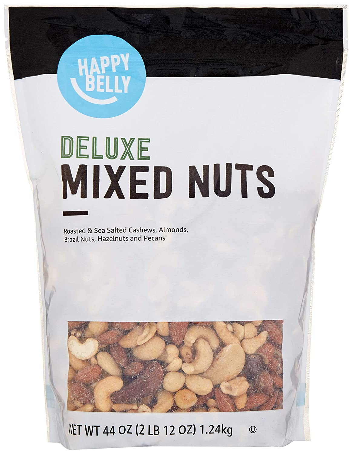 Amazon Brand - Happy Belly Deluxe Mixed Nuts, 44 Ounce