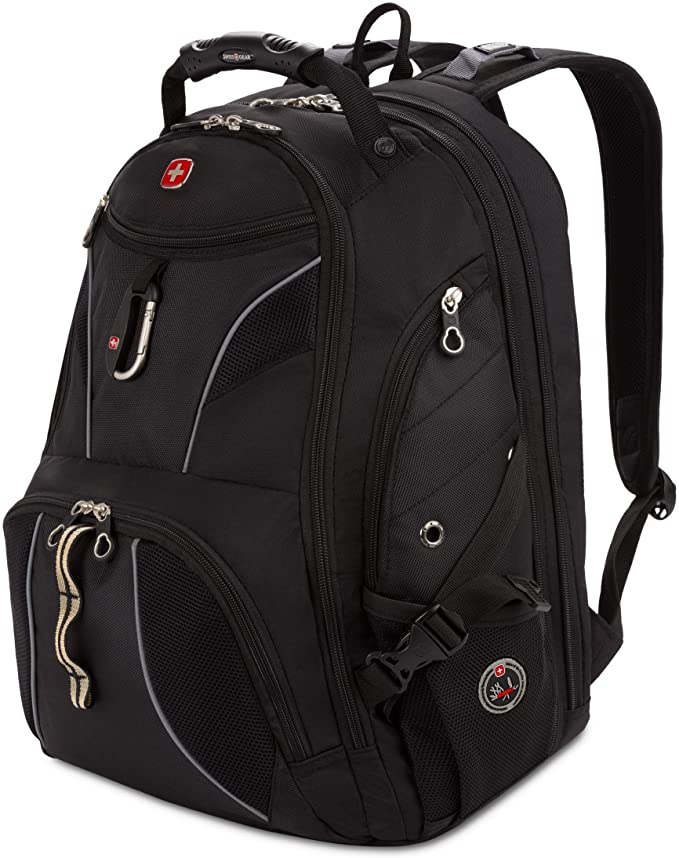 Swiss Gear SA1923 Black TSA Friendly ScanSmart Laptop Backpack