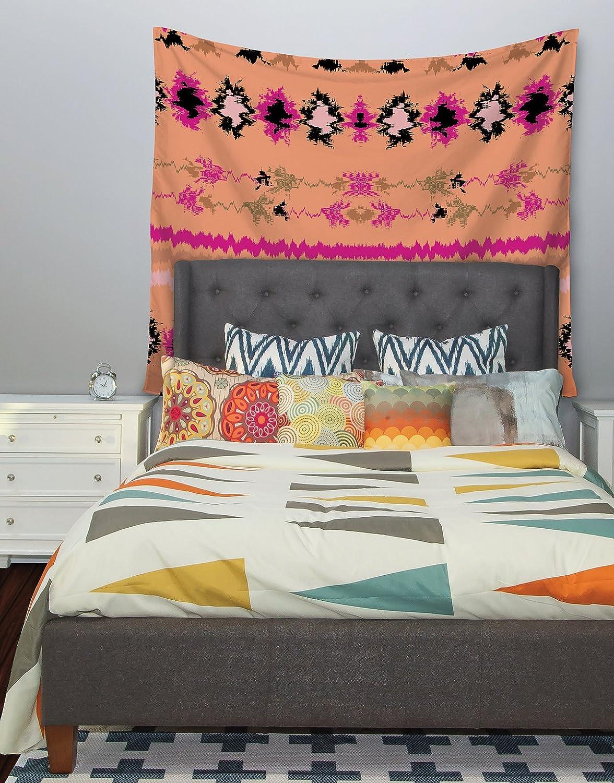 68 X 80 Kess InHouse Nina May Peachy Nava Orange Tribal Wall Tapestry