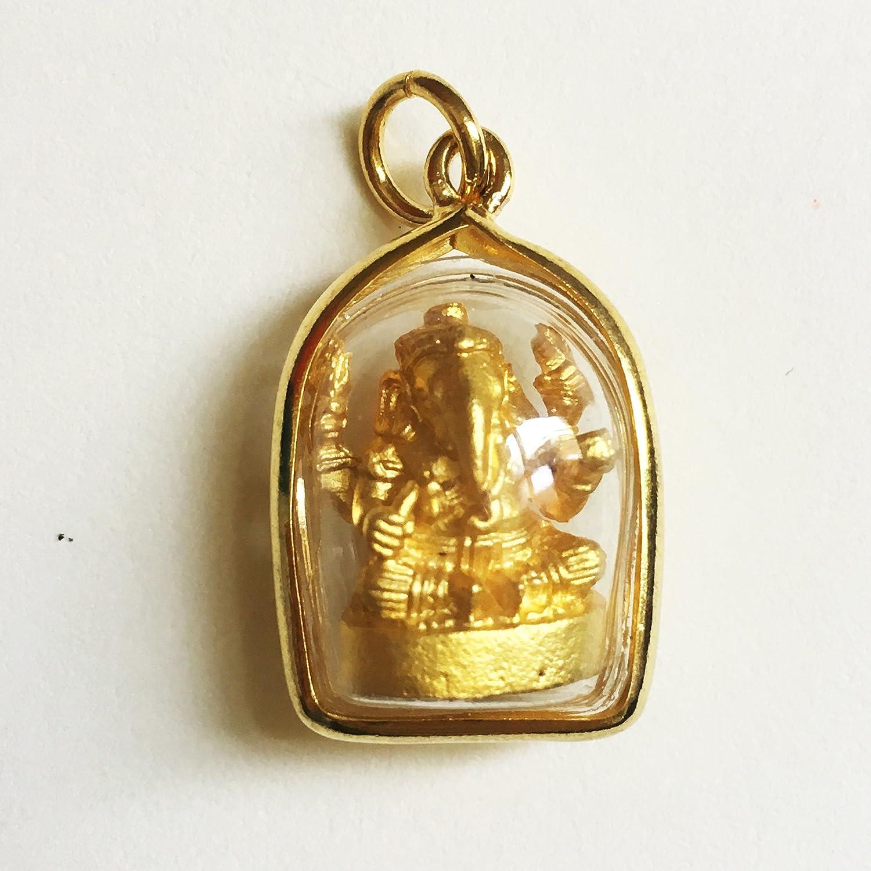 Amulet Lord Ganesha Phra Pikanet Elephant Hindu God Talisman Antique