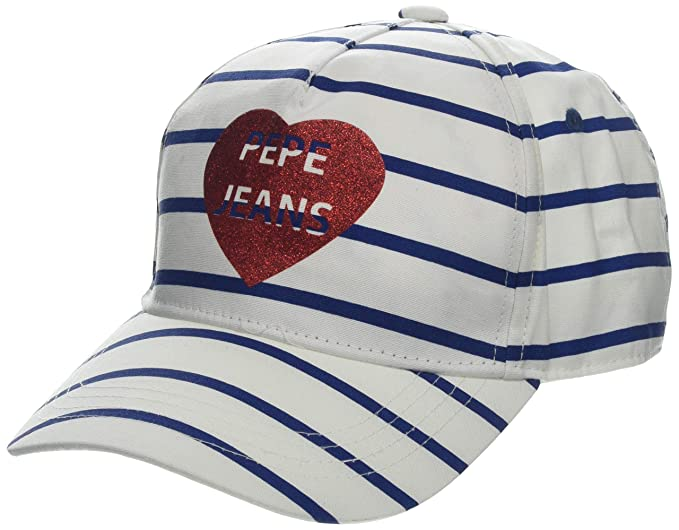 Pepe Jeans Stripes Jr Cap, Gorra para Niñas, (Multi 0Aa), Small