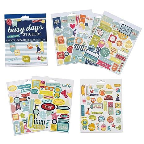 Pegatinas para scrapbooking, agendas, planners y el planner Busy Days de Boxclever Press. Una selección de pegatinas de distintos temas para scrapbook ...