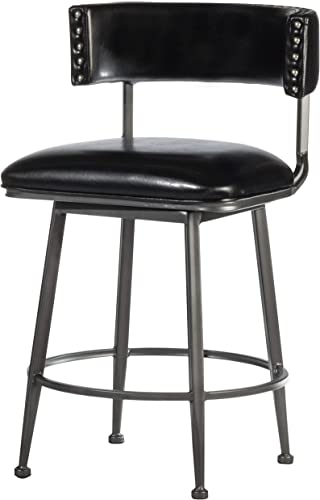 Hillsdale Furniture Kinsella Commercial Grade Swivel Counter Stool, Charcoal