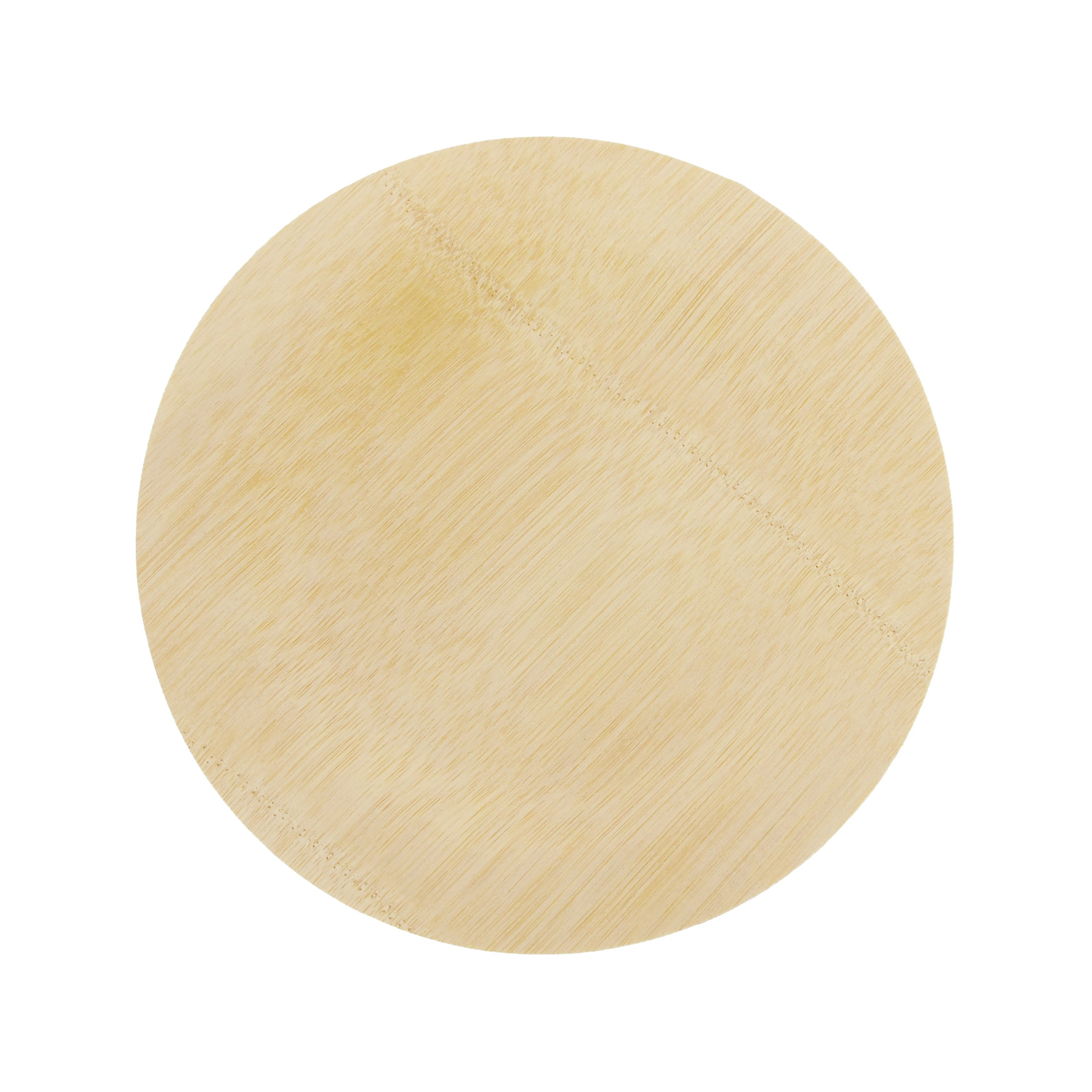 BambooMN Brand - 11'' (28cm) Round Disposable Bamboo Veneer Plates, 24pcs by BambooMN (Image #1)
