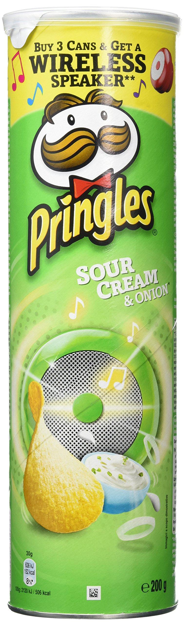 Pringles Sour Cream & Onion Crisps, 200g (Pack of 6)
