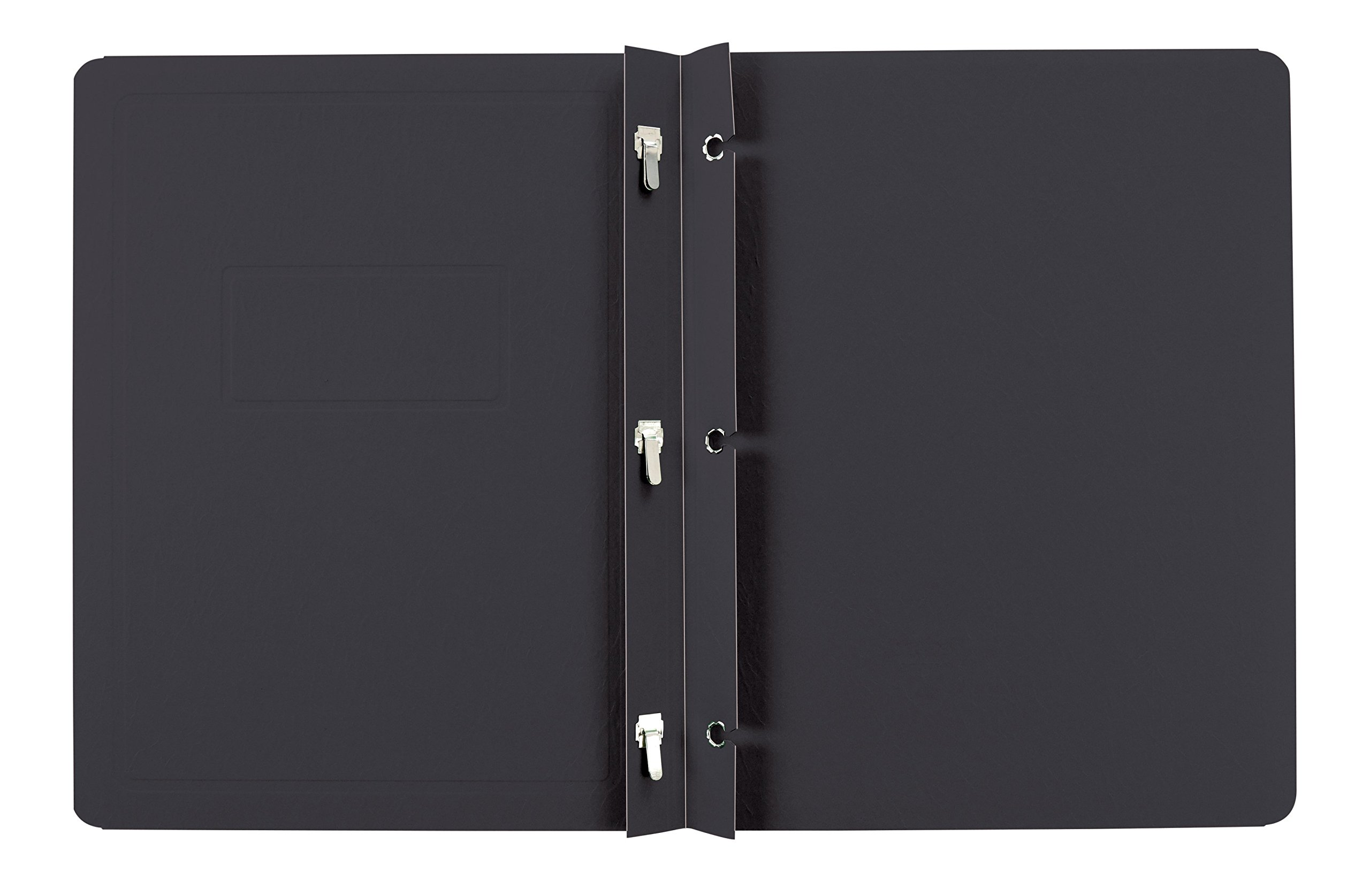 Oxford Panel And Border Report Covers, 100 Sheet Capacity, Letter Size, Black, 25 per Box (52506EE)