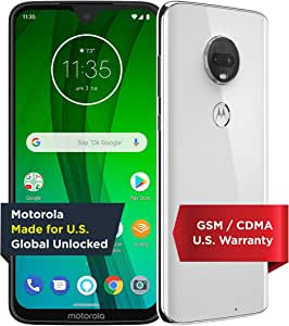 Moto G7 with Alexa Hands-Free – Unlocked – 64 GB – Clear White (US Warranty) – Verizon, AT&T, T–Mobile, Sprint, Boost, Cricket, & Metro