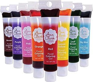 Ann Clark Cookie Cutters Food Coloring Gel 8-Pack