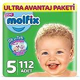 Molfix 3D Bebek Bezi, Junior 5 Beden, Ultra Avantaj Paketi 112 Adet