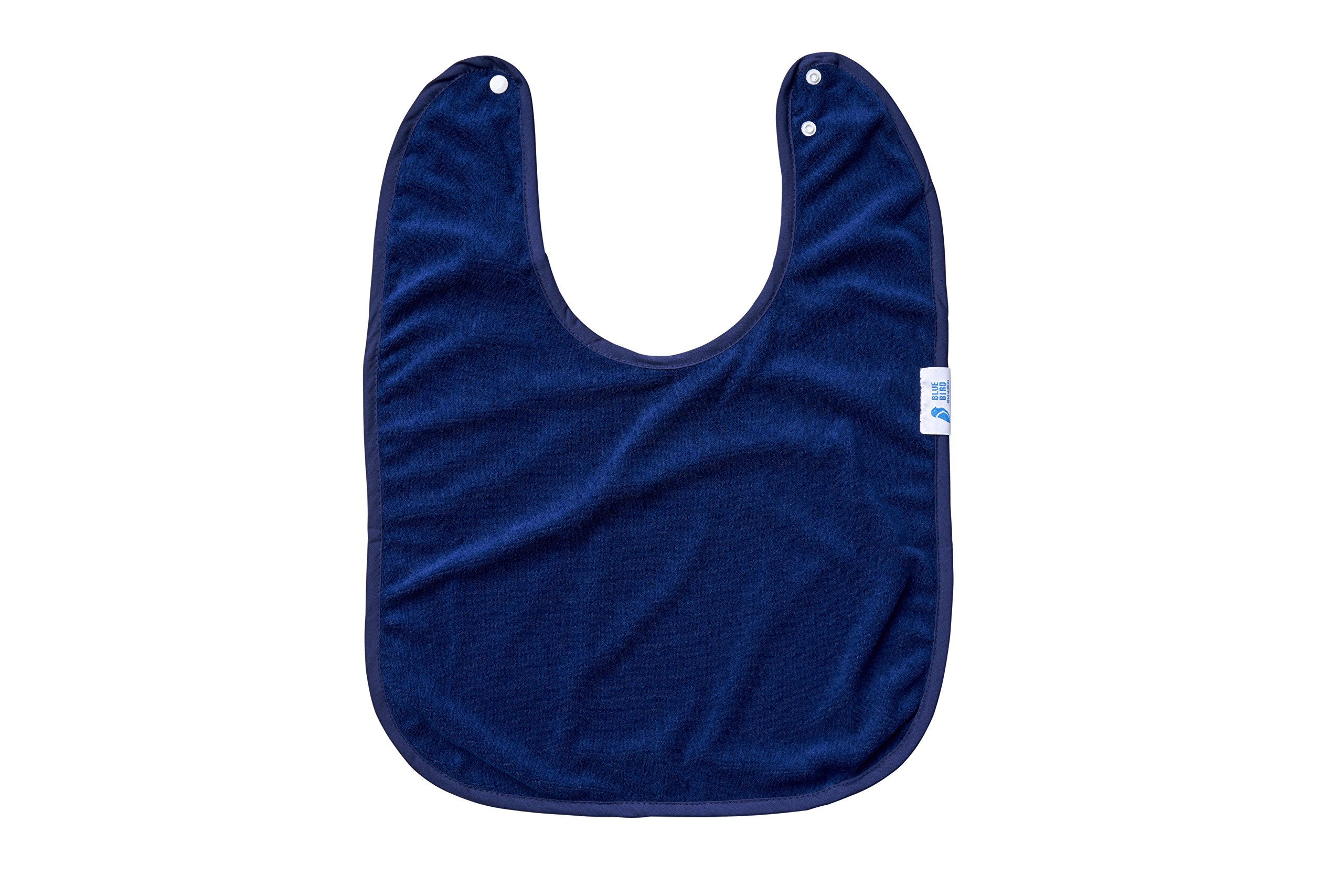 Youth and Adult Waterproof Adapted Bib, Absorbent Clothing Protector - Navy