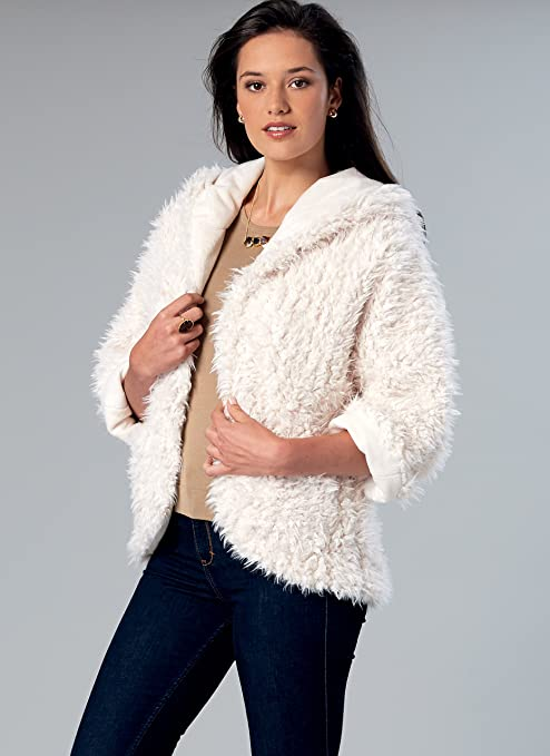 Amazon.com: McCalls Patterns M75110Y0 Misses Open-Front Jackets with Shawl Collar and Hood