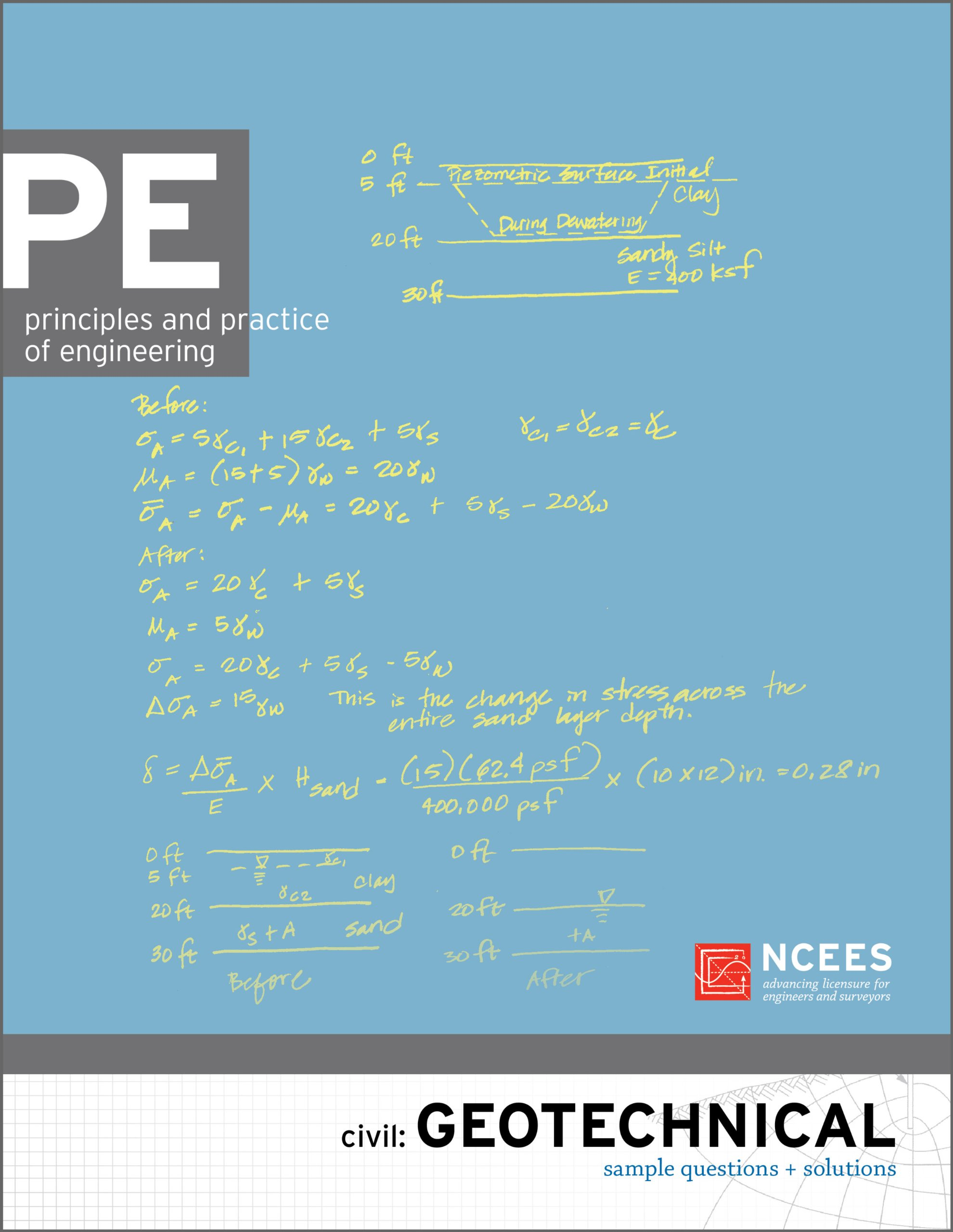 Pe civil geotechnical sample questions and solutions ncees pe civil geotechnical sample questions and solutions ncees 9781932613629 amazon books fandeluxe Gallery