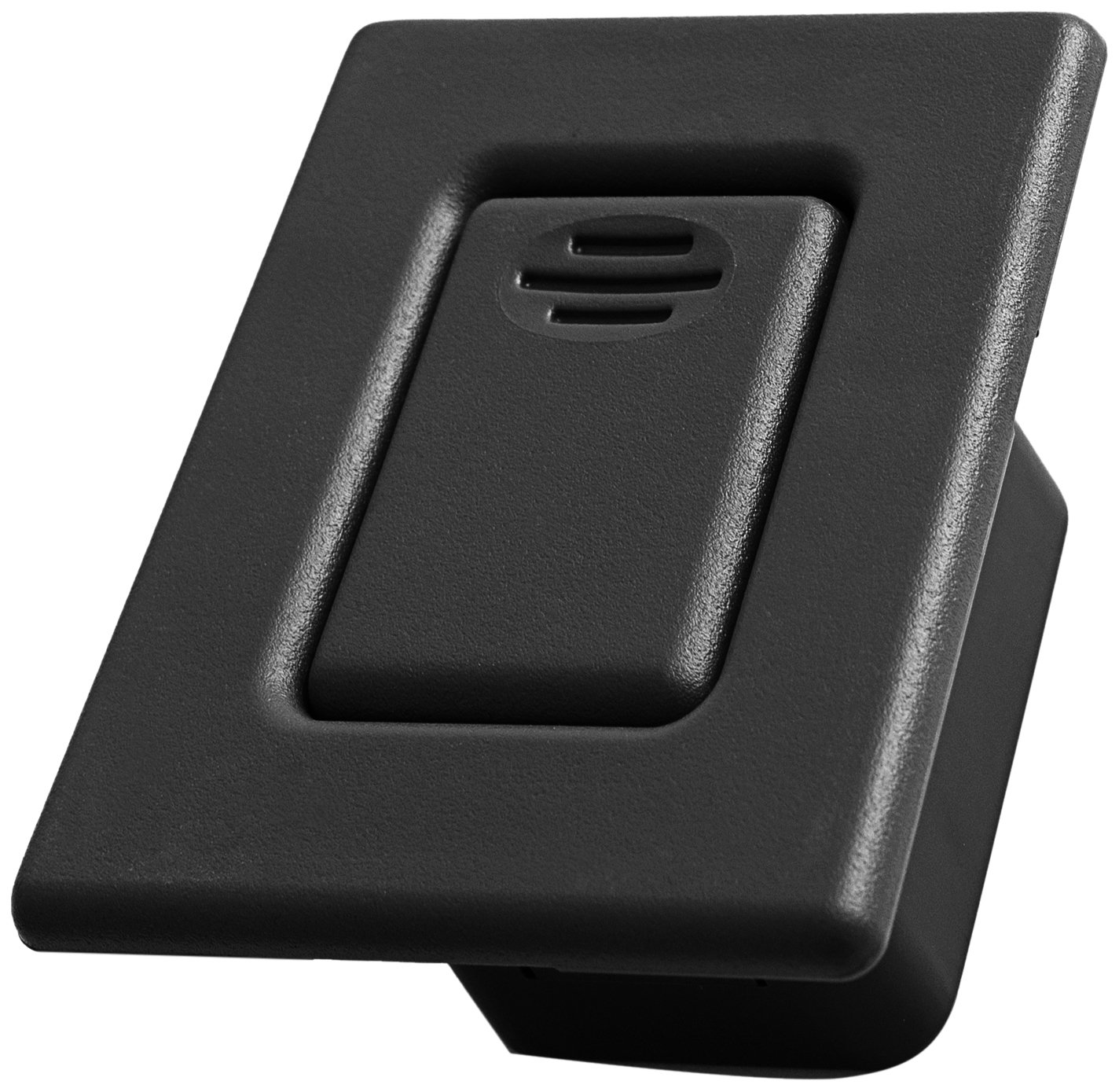 OxGord Folding Seat Back Latch for Select GM Vehicles - Replaces 12477396 Rear Bucket Row Release Lock Button, Black Cover