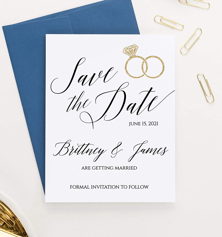 Brushed Wedding Save the Date Stamp Modern Wedding Favor Stamp  AWS106 Modern Save the Date Stamp Modern Wedding Stamp