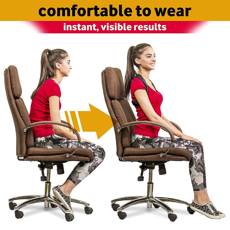 Schultergurt Rückenbandage Haltungstrainer Verstellbar /& Atmungsaktiv ABILITH Geradehalter zur Haltungskorrektur für Damen und Herren