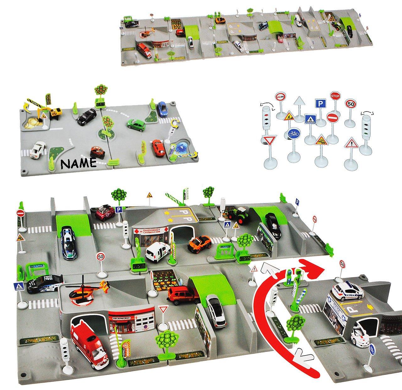 Unbekannt Set Xxl 3 D Spielmatte Straße Incl Namen Namen Incl 6
