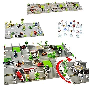 Komplettset: XXL 3-D Spielmatte - Straße incl. Namen - 6 Teile mit ...