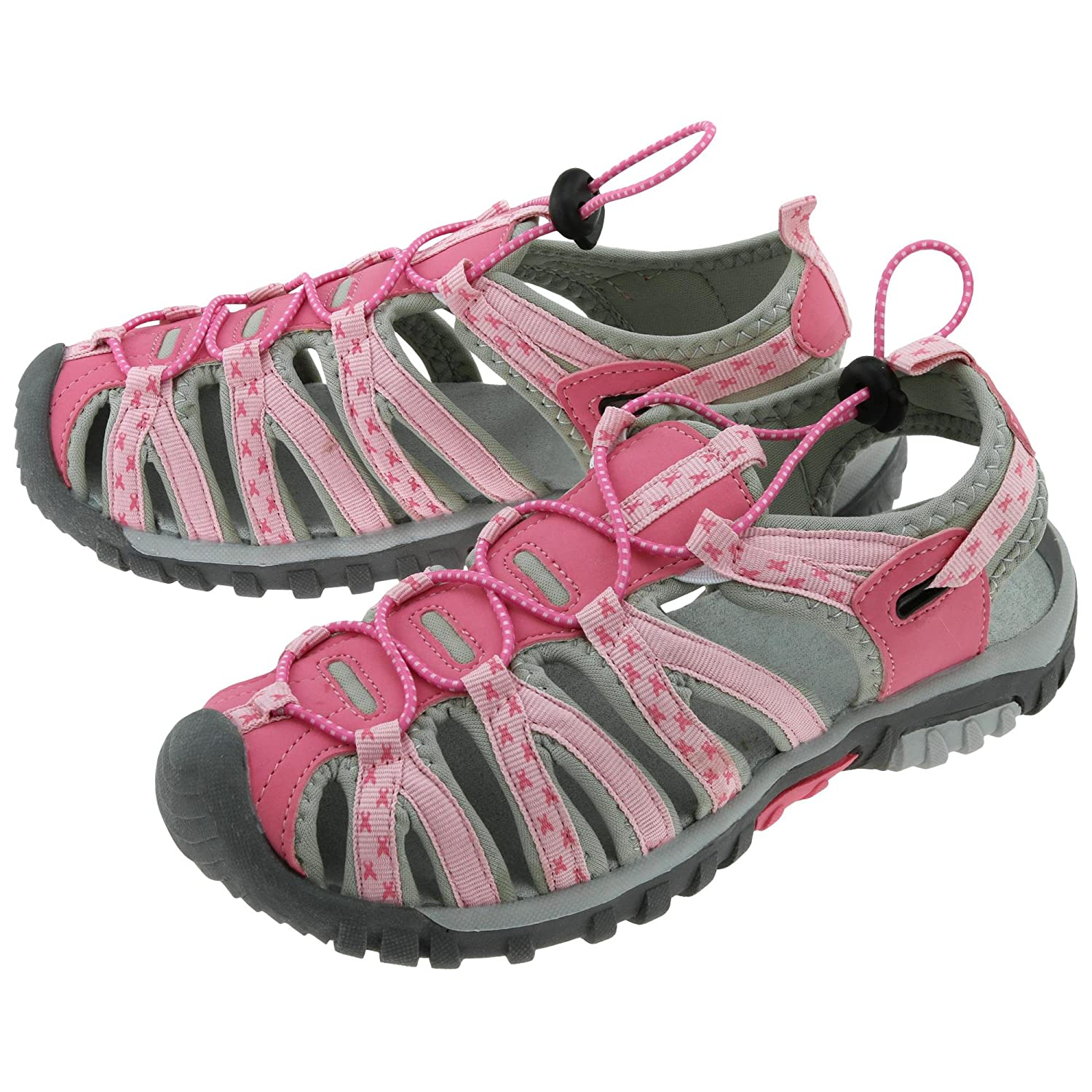 GreaterGood Path to Pink Sport Sandals B06XY78XMT 10 B(M) US|Gray/Pink