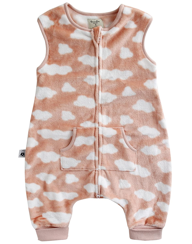 Vaenait baby 1-7Y Cozy Warm Fleece Kids Girls Wearable Blanket Sleeper