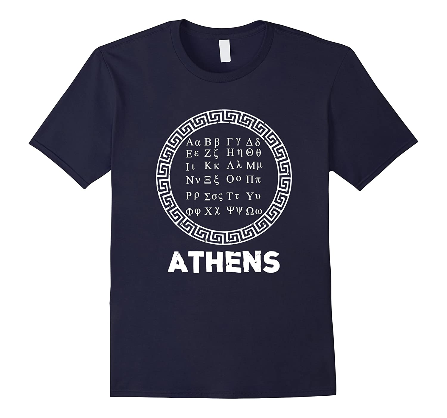 Athens Greece Shirt- Ancient Greek Alphabet Letters Tee-TH