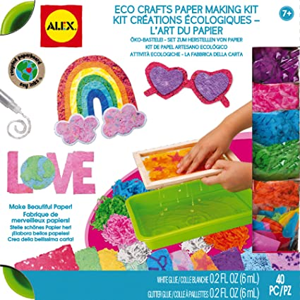 Amazon Com Alex Toys Craft Eco Crafts Paper Making Kit Toys Games