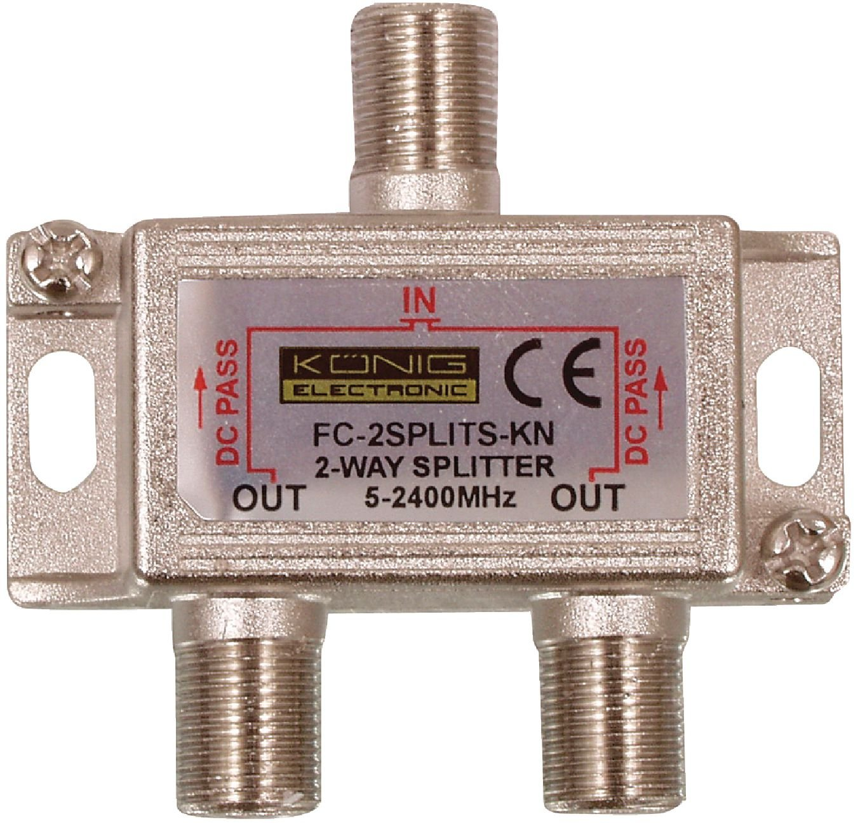Konig Satellite F Splitter Electronics 2 Way Switch