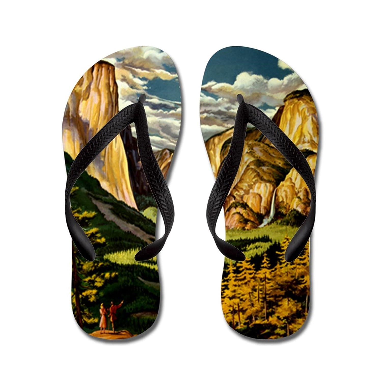Lplpol Vintage Yosemite Travel Flip Flops Flip Flops for Kids and Adult Unisex Beach Sandals Pool Shoes Party Slippers