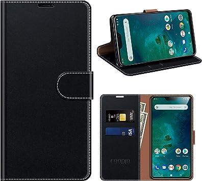 COODIO Funda Cuero Xiaomi Mi A2 Lite, Funda Xiaomi Mi A2 Lite ...