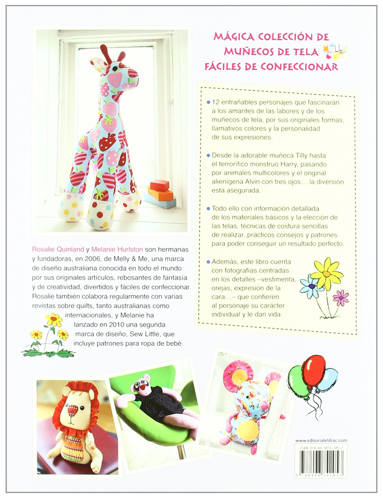 Amazon.com: Munecos de tela con disenos fantasticos y creativos / Sewn Toy Tales: 12 proyectos paso a paso con sus patrones / 12 Projects Step by Step With ...