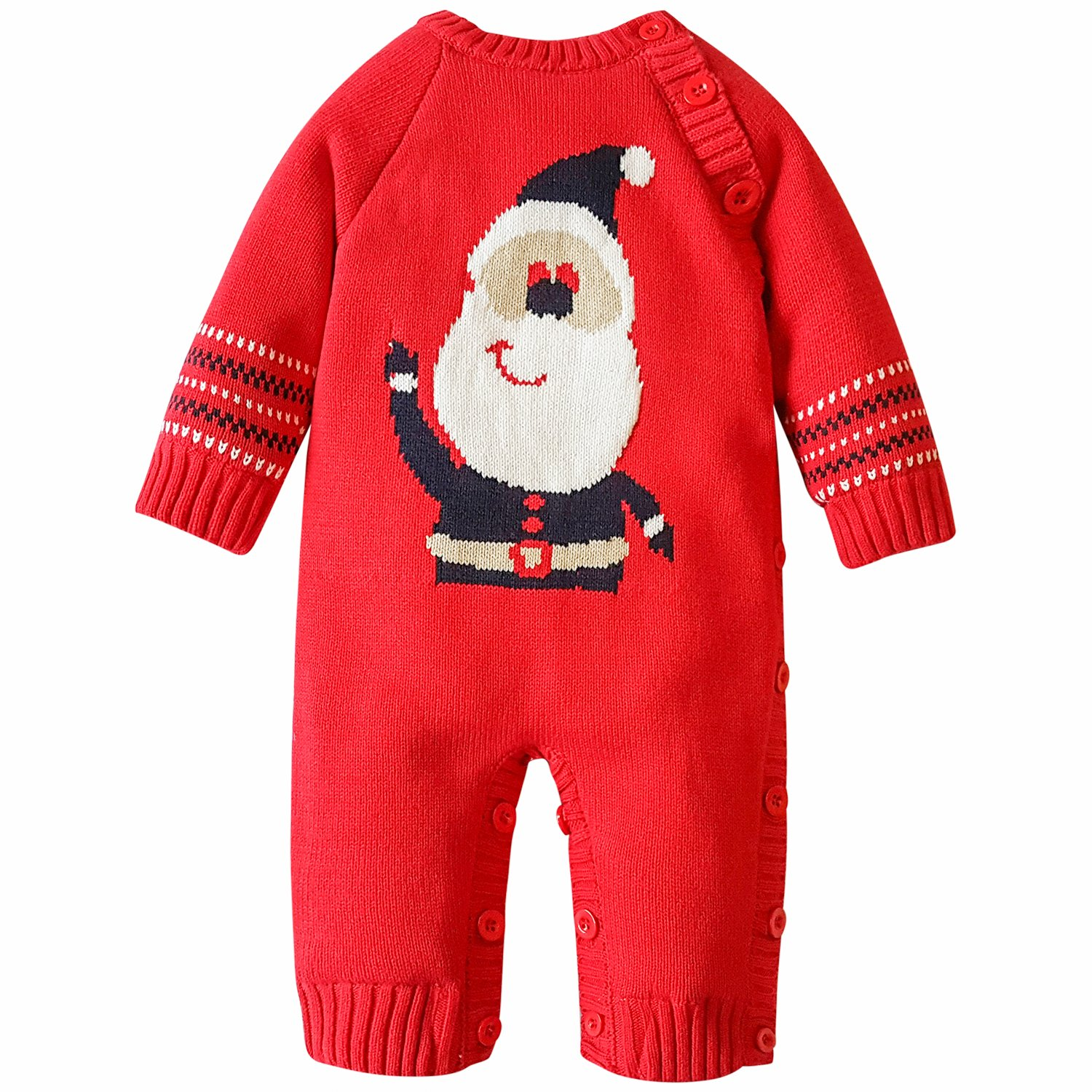 ZOEREA Baby Sweater Cartoon Pattern toddler Romper Suit Christmas 0-18 Months Y58