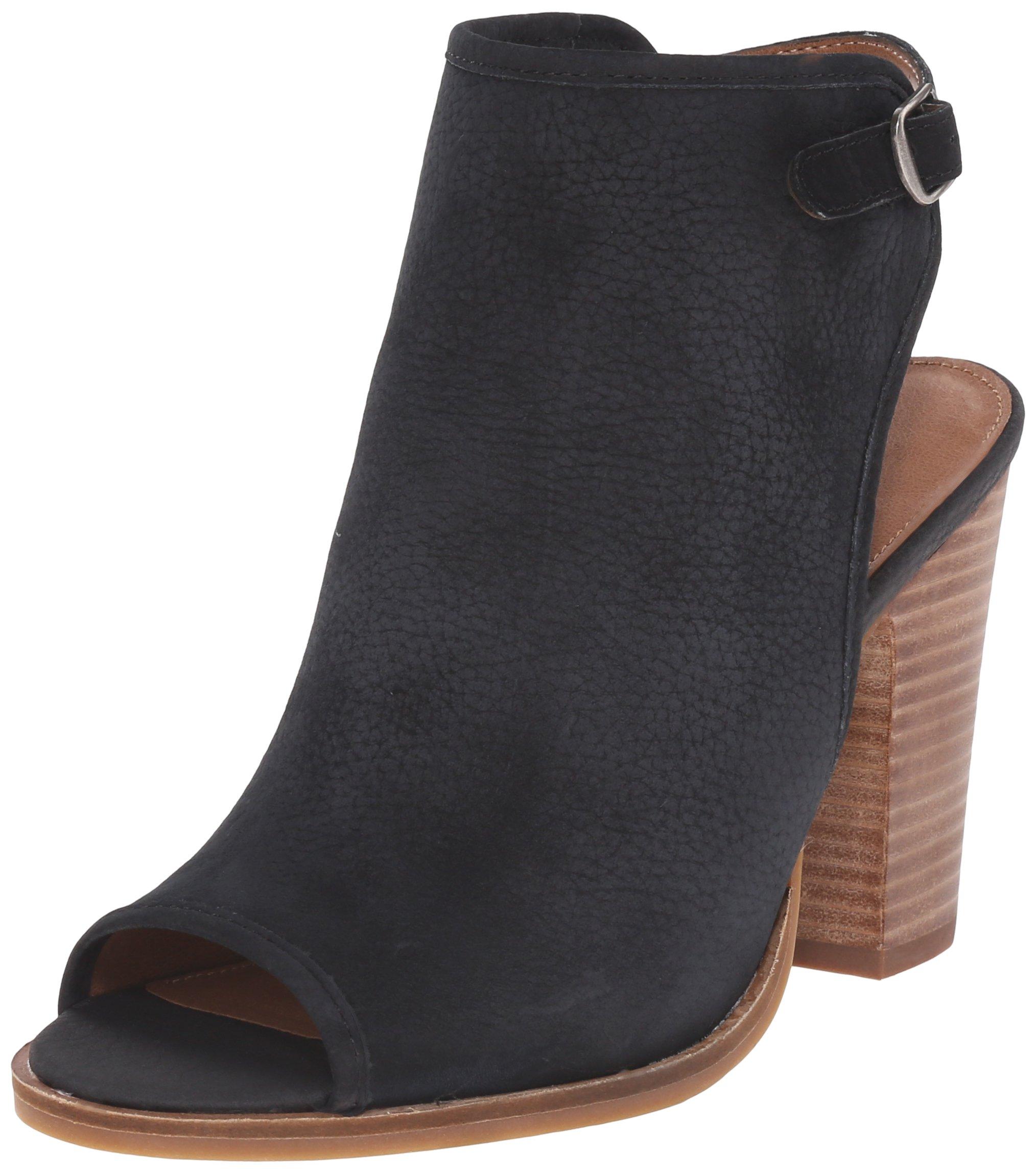 Lucky Women's Lisza Peep Toe Heel, Black, 8.5 M US