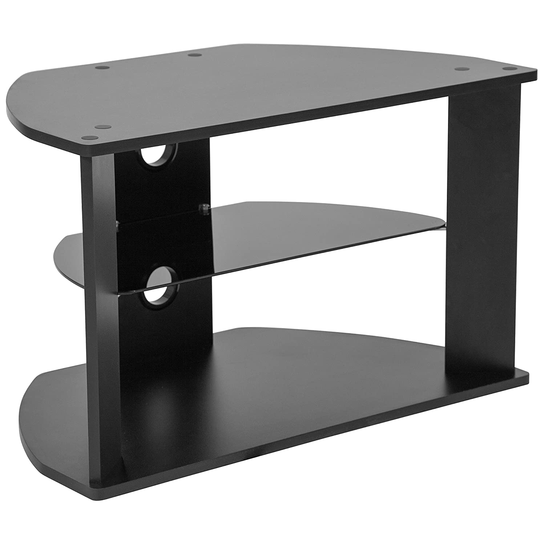 Amazoncom Flash Furniture Northfield Black Finish Tv Stand With