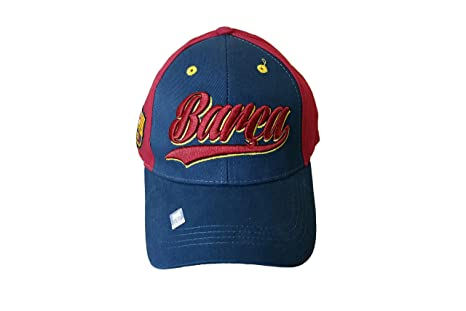 Rhinox Red FC Barcelona Gorra Ajustable con Visera Curvada: Amazon ...