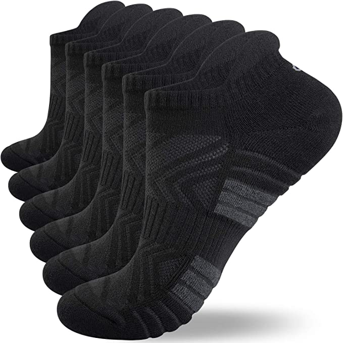 Anqier Trainer Socks Cushioned Odor