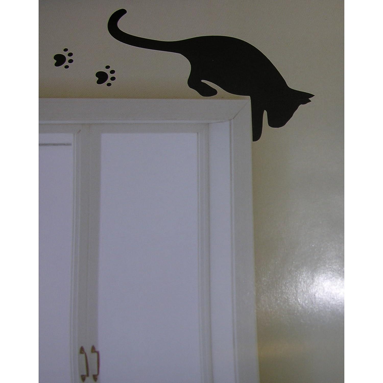 Innenarchitektur Wandtattoo Katzen Foto Von 3 Schwarze Wand Sticker Kühlschrank Deko Aufkleber