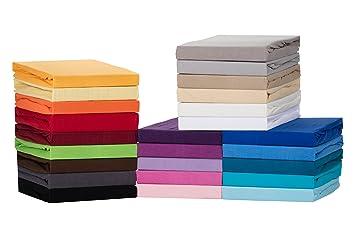 60x120-70x140 cm Anthrazit 100/% Baumwolle Medicate Comfort Jersey Spannbettlaken in vielen Farben und Gr/ö/ßen b/ügelfreies Bettlaken