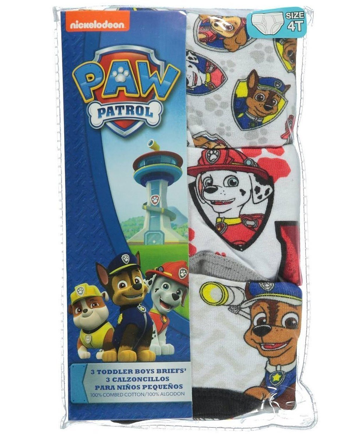 Paw Patrol Little Boys' Toddler Anchor Medley 3-Pack Briefs TBUP3703-72716