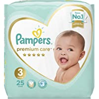 Pampers Premium Care Diapers, Size 3, Midi, 6-10 kg, Carry Pack, 25 Count