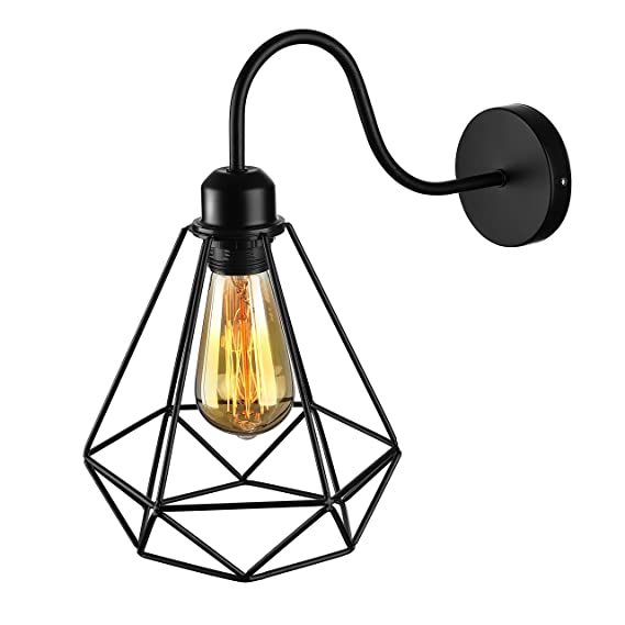 Jinguo Lighting Industrial Vintage 1 Light Wall Sconce Wall Lamp