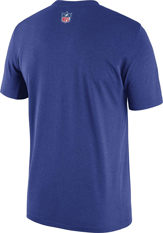 Medium Black NFL Dallas Cowboys Mens Nike Legend Practice T-shirt Royal