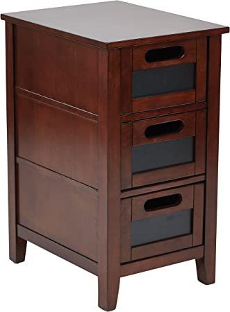 Brown Side by Side Desk in Maple Trim Color