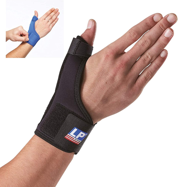 LP Support 763 Ortesis de pulgar - Vendaje de pulgar de serie básica - Soporte de pulgar - Vendaje de mano, tamaño:M, color:azul