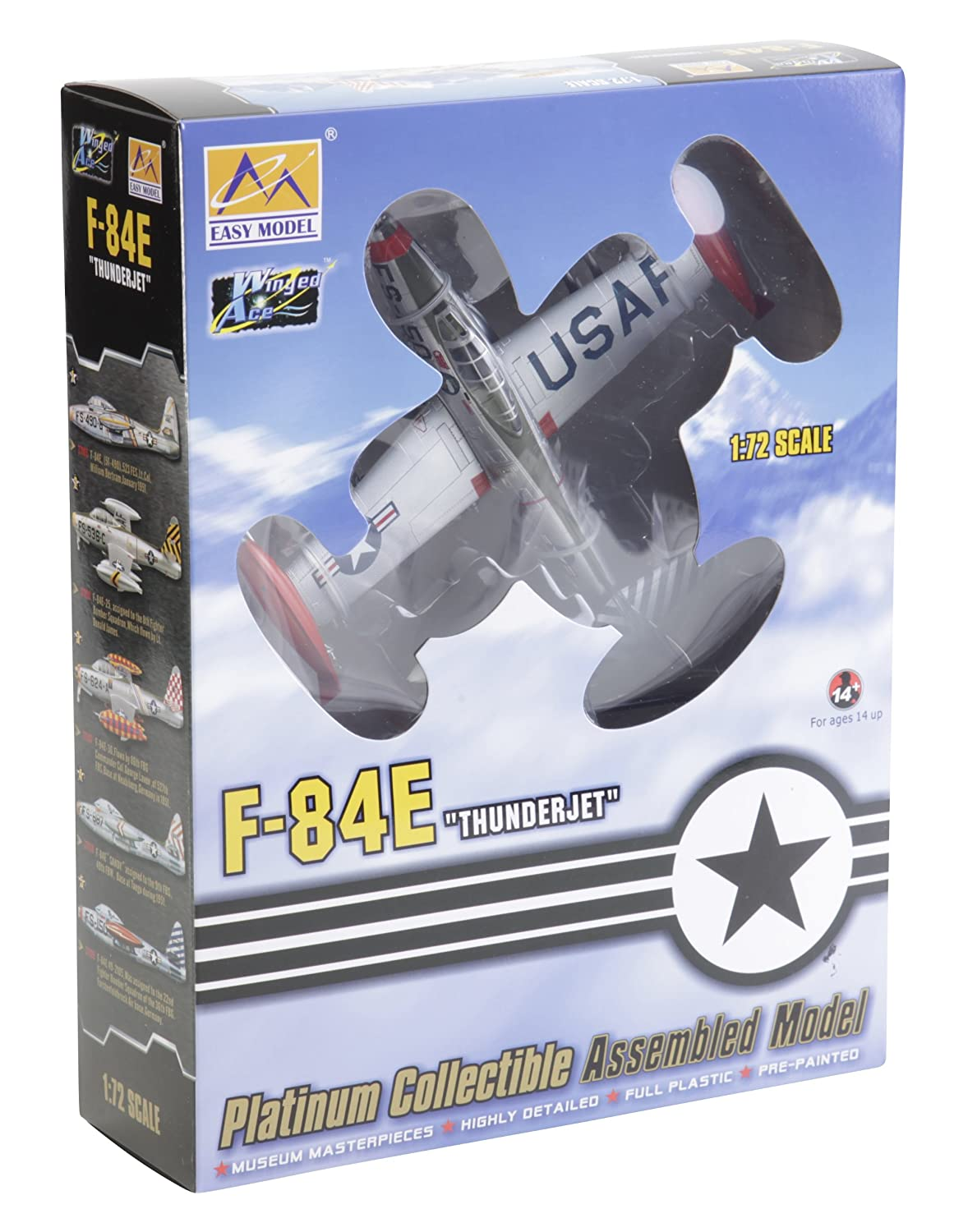 Facile modèle Echelle 1 : 72 'f-84e Thunderjet 22 ND Fighter Bomber SQN, délégations FBG, furstenf' modèle Kit