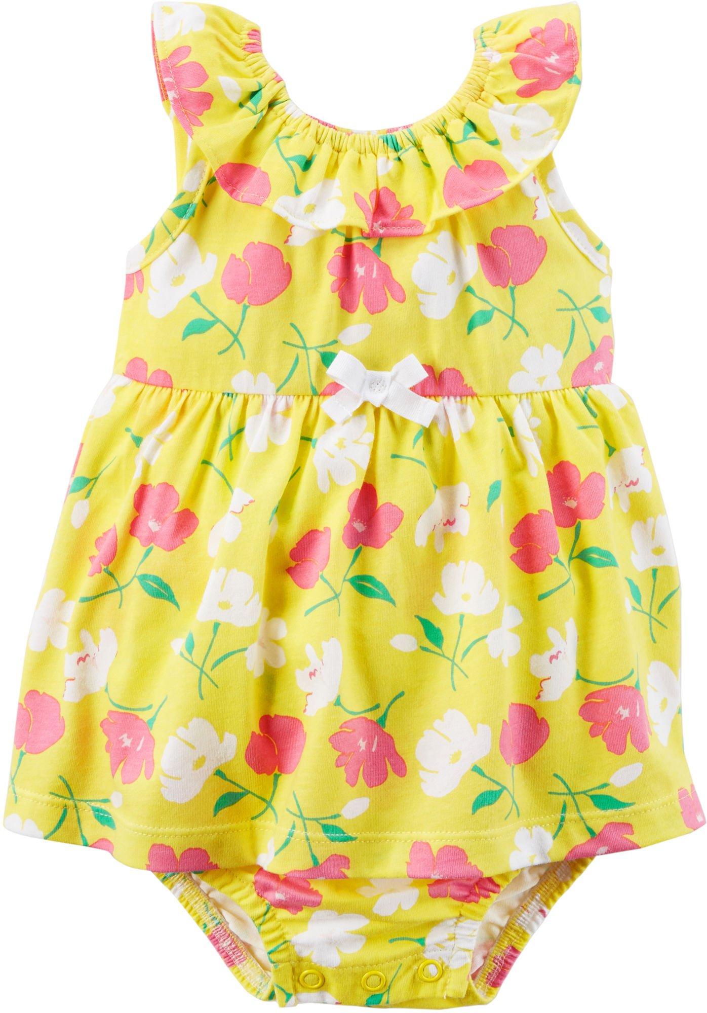 Carter's Baby Girls' Sleeveless Floral Print