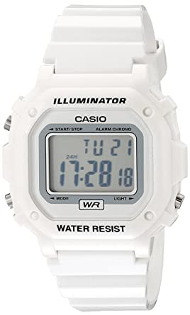 ea8de18ed Image Unavailable. Image not available for. Color: Casio Unisex  F108WHC-7BCF White Resin Band Watch