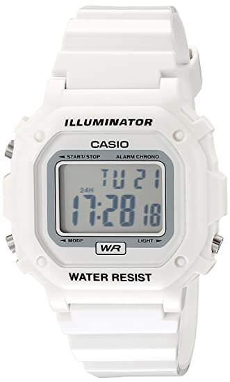 c6ab376d2 Amazon.com: Casio Unisex F108WHC-7BCF White Resin Band Watch: Casio: Watches