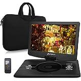 Lettore DVD portatile 12.5 pollici schermo Pumpkin, circa 5 Ore di gioco, Lettore DVD/CD/MP3/Video, Lettore USB / SD Card, Ingresso AV IN / OUT, include Valigetta