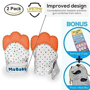 Amazon.com: mababy dentición manopla con mordedor de viaje ...