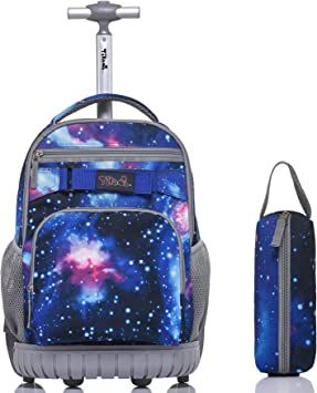Amazon Com Tilami Rolling Backpack 18 Inch With Pencil Case