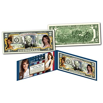 MELANIA TRUMP 45th President FIRST LADY OFFICIAL Legal Tender U.S. $2 Bill w/COA: Everything Else